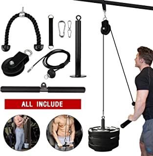 Elevtab Fitness LAT and Lift Pulley System, Cable Machine...