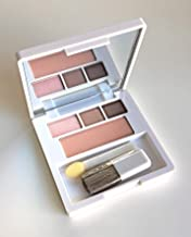 Clinique Palette ~ All About Shadow Trio (16 Day Into Date (Single Shade), 14 Strawberry Fudge (Duo)) + Soft-Pressed Powder Blusher (04 Pink Blush)