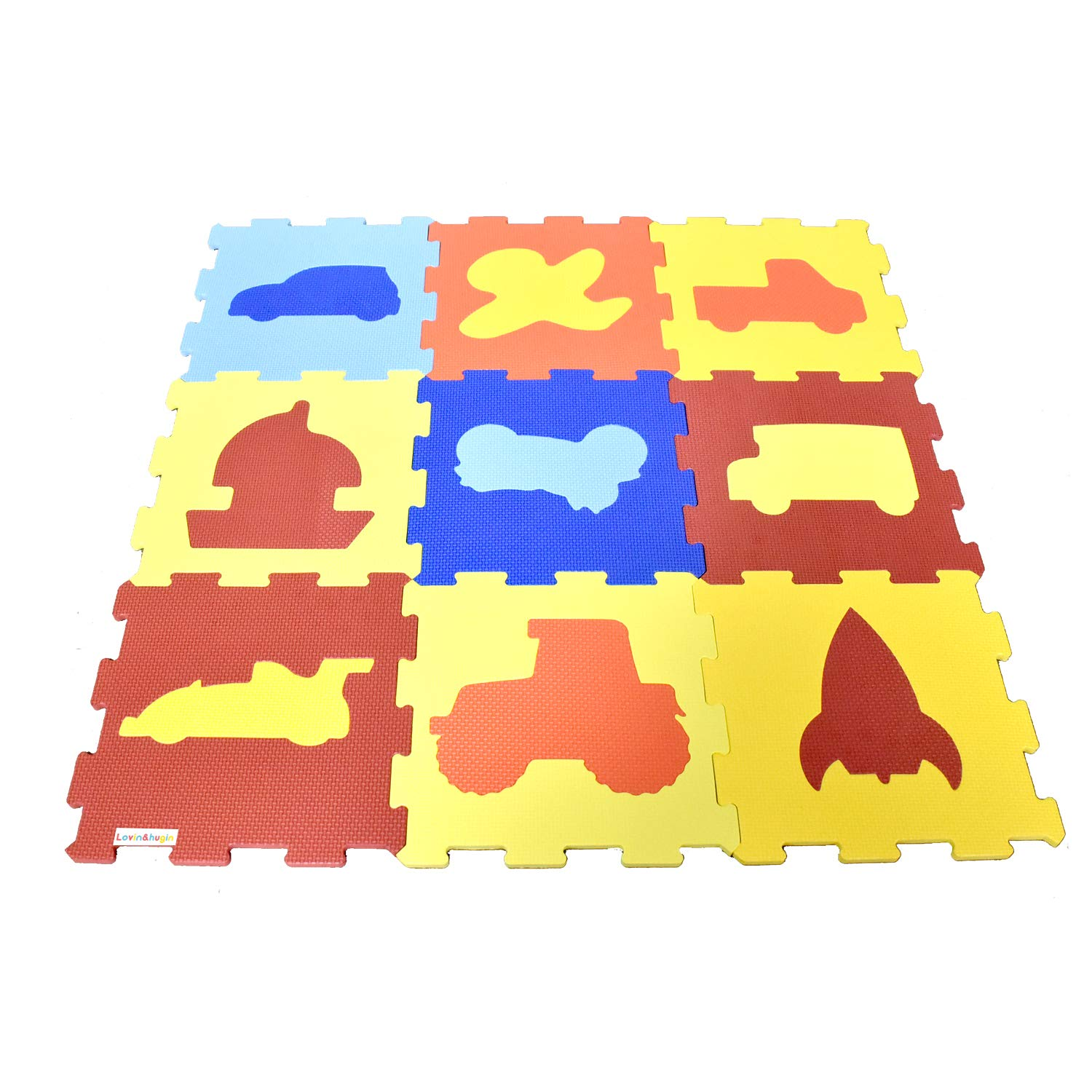Lovin hugin Baby Foam Play Sale Special Price 12x12 9pcs Animer and price revision Interlocking Mat Inches