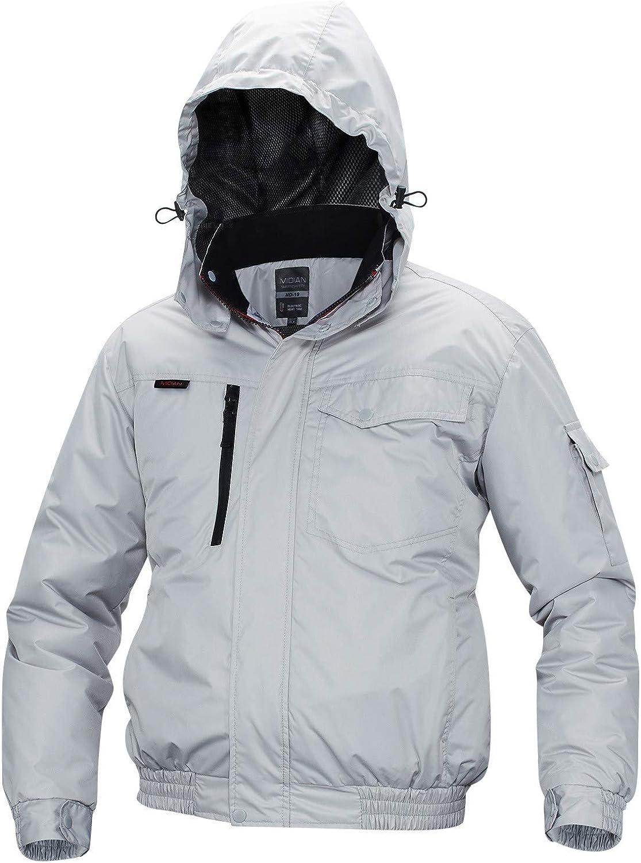 Men's USB Charging Heating Coats Waterproof Ski Jacket Fleece Lined Windproof Warm Snow Jacket with Hood Pockets