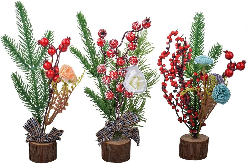 XONOR 10'' Artificial Mini Christmas 3 Christ Tree Tabletop Cheap mail order specialty Limited time for free shipping store Pcs