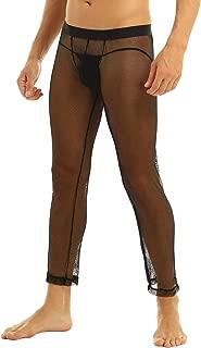 Men's Fishnet Mesh Underwear See Through Skinny Leggings Long Pants Trousers