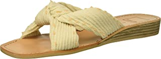Dolce Vita Women's Haviva Knit Sandals, Ivory, 7 M US