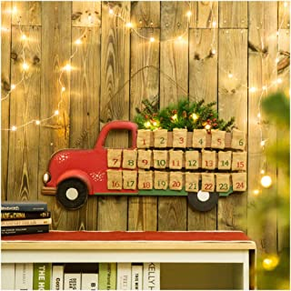 Glitzhome Rustic Christmas Advent Calendar for Kids 26.89