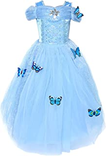 LOEL Cinderella Dress Princess Costume Simulation Butterfly Dress