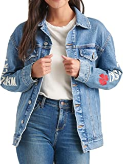 Best lucky brand embroidered denim jacket Reviews