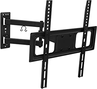 Mount-It! Swivel TV Wall Mount Bracket with Full Motion Articulating Arm 17-Inch Extension for 50-55 Inch LED, LCD, OLED Plasma TVs, 180 Deg Swivel 15 Deg Tilt