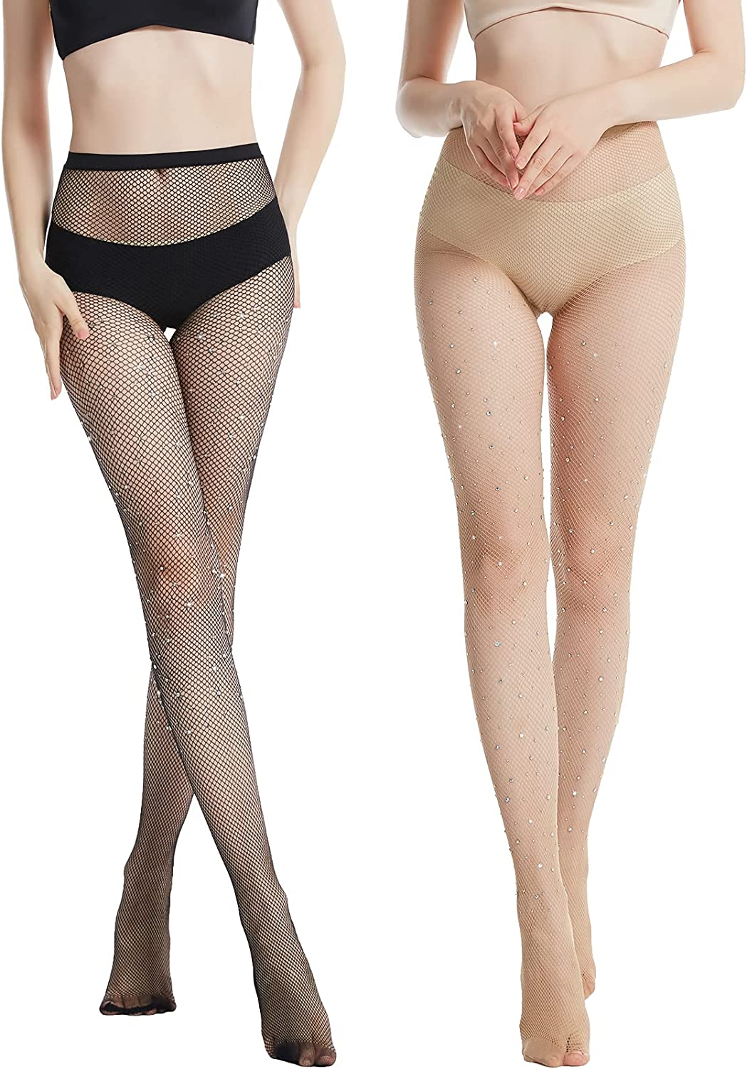 Sheer Rhinestone Fishnet Stockings - Cheap tights Sparkly Bl Courier shipping free net Fish