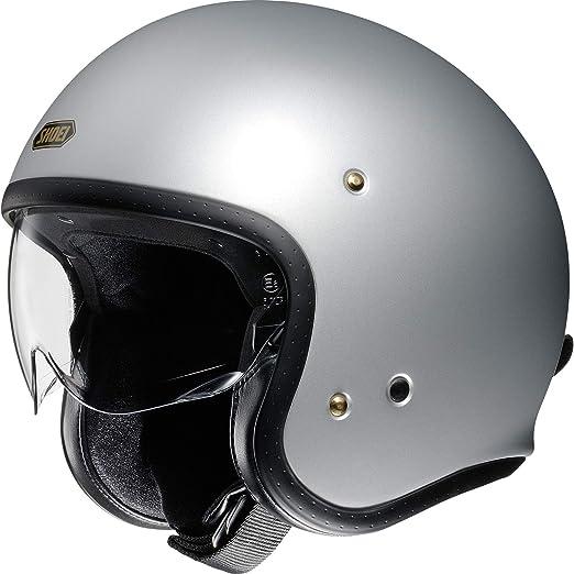 Shoei J O Silber Matt Light Silver Open Face Helm Jethelm Motorradhelm S Auto