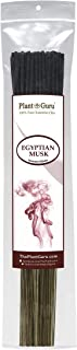 Plant Guru Egyptian Musk Incense Sticks, 185 Grams in Each Bundle 85 to 100, Premium Quality Smooth and Clean, Each Stick is 10.5 Inches Long Burn Time is 45 to 60 Minutes Each.