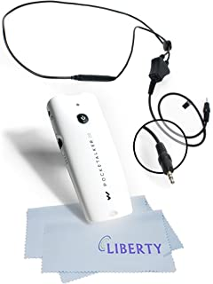 NEW!!! Pocketalker 2.0 Platinum Package By Williams Sound - Platinum Package Includes 2 Liberty Microfiber Cloths and 3 Extra Sets of Batteries (Neckloop)