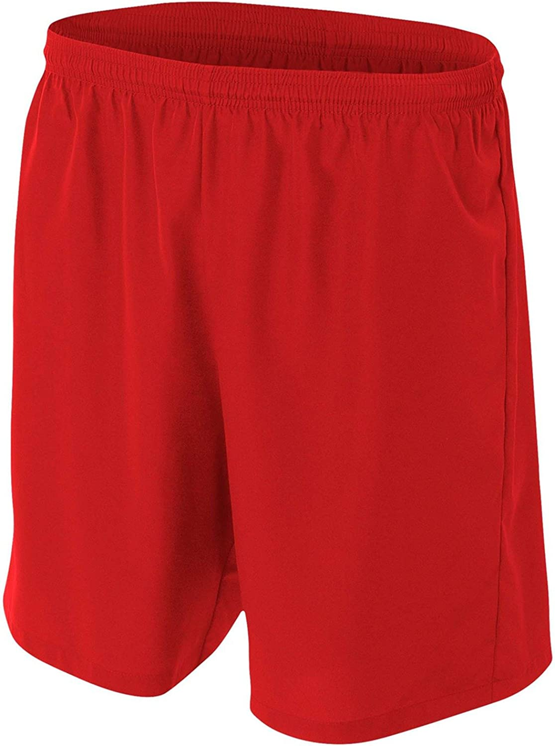 A4 Big Boys' Lightweight Woven Soccer Shorts, X-Large, Scarlet Red