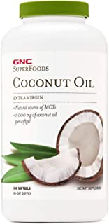 GNC SuperFoods Coconut Oil, 240 Softgels, Produces Natural Energy