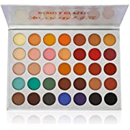 Beauty Glazed Eyeshadow Palette Pigmented Colors Makeup Pallets Eye Makeup 35 Shades Matte and...
