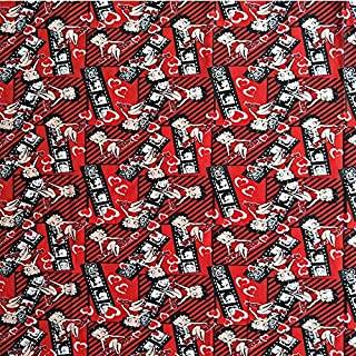 Lace Fabric African | 105X100Cm Sexy Betty Boop Red Cotton Fabric for Baby Girl Dresses Clothes Curtain Cushion Cover Quilting Sewing Diy-Afck046 | by DOBTSore