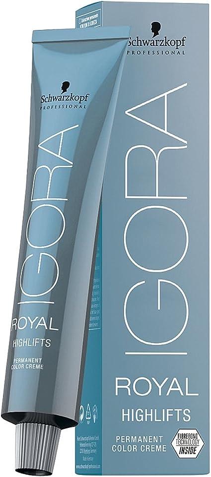 Schwarzkopf Igora Royal Permanent Hair Colour - Tinte para el cabello rubio ceniza (12-1, 60 ml)