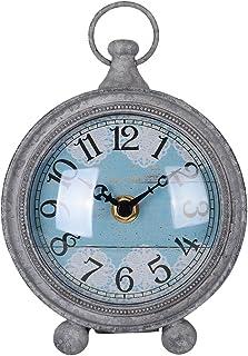 NIKKY HOME Vintage Coastal Beach Blue Table Clock Home Decor for Kitchen, Bathroom,..