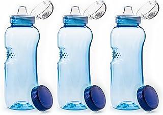 Botella de agua de Tritan. Sin BPA con tapa abatible, 3&