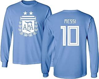 Argentina 2018 National Soccer #10 Lionel Messi World Championship Men's Long Sleeve T-Shirt