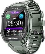 ساعت های هوشمند ویژه بانوان مردانه ، فعال کننده ردیاب تناسب اندام با ضربان قلب مانیتور اکسیژن خون 3ATM ضد آب 1.69 اینچ صفحه نمایش لمسی کامل ساعت هوشمند برای iOS Android