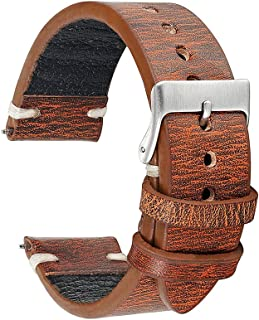 Handmade Vintage Leather Watch Strap 18mm 20mm 22mm 24mm for Men or Women