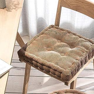 Cojín para silla de comedor, cojín para respaldo de sillón, cojín grueso para sillas de cocina, cojines acolchados cuadrados redondos (40 x 40 x 8 cm, F)