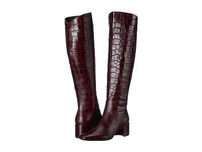 Sigerson Morrison Paislee (Dark Red Croc Print Leather) Women