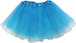 So Sydney Ballerina Basic Girls Dance Dress-Up Princess Costume Dance Recital Tutu (Turquoise Blue)