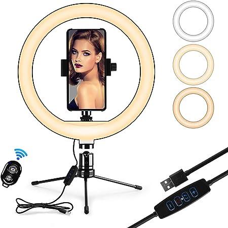 Iregro 10 Zoll Ringlicht Mit Stativ Led Selfie Kamera