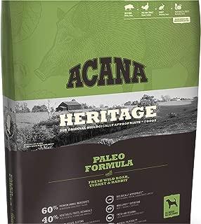 ACANA Paleo Dry Dog Food 25 Lb. Bag. with Fresh Wild Boar, Turkey & Rabbit Grain Free Dog Food