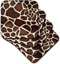 3dRose cst_34786_2 Giraffe Coat Soft Coasters, Set of 8