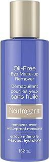 Neutrogena Oil-Free Eye Makeup Remover for Sensitive Eyes, Removes Waterproof Makeup, 162 mL