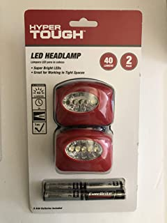 Hyper Tough LED Headlamp 2 Pack