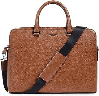 Michael Kors Men's Harrison Double Gusset Briefcase, Luggage, Tan, One Size