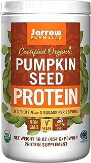 Jarrow Formulas Organic Pumpkin Seed Vegan Protein Powder, Complete Amino Acids, 16 oz. (454 g) Powder