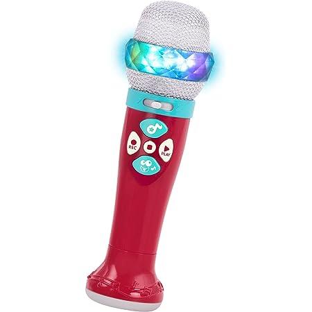 Battat – Microphone Musical et Lumineux pour Enfants – Micro karaoké avec 5 chansons et Fonction Enregistrement – pour 2 Ans et Plus (Bluetooth)