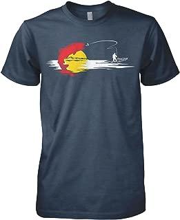 Fly Mens Colorado Flag Fly Fishing T-Shirt