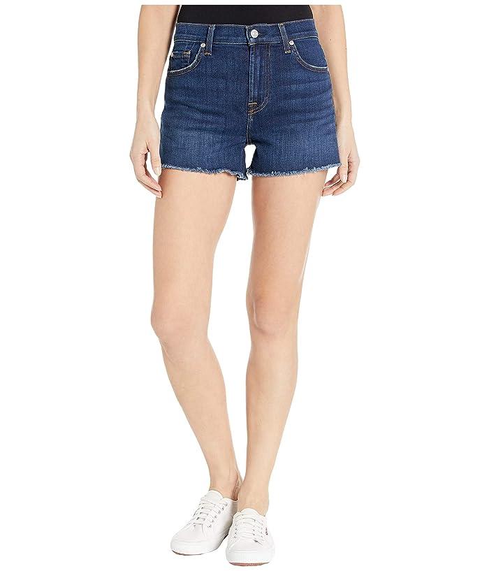 7 For All Mankind  High-Waist Shorts in Fletcher Drive (Fletcher Drive) Womens Shorts