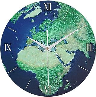 Luminous Creative Wall Clock, 12 Inch Personality Mute Non-Ticking Classic Clock, Battery Operated Round Clock Roman Numer...