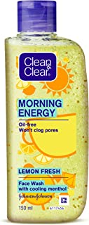 Clean & Clear Morning Energy Lemon Fresh Face Wash, Yellow, 150 ml