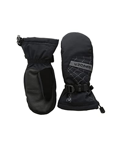 Spyder Kids Overweb Ski Mitten (Little Kids/Big Kids) (Black/Polar) Ski Gloves