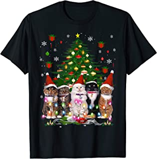 Cat Christmas Funny Shirt Meowy Christmas Tree Cat T-Shirt