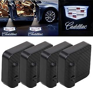 For Cadillac Car Door Lights Logo Projector, Universal Wireless New upgraded version Car Door LED Logo Lighting Projector ...
