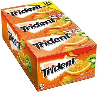 Trident Sugar Free Gum, Tropical Twist, 14 Pieces, 15 Packs