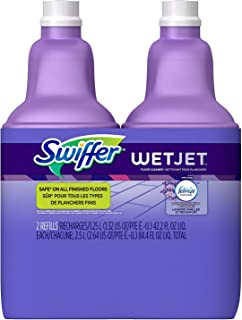 Swiffer Wetjet Spray Mop Floor Cleaner Multi-Purpose Solution Febreze Lavender Comfort Scent 2 Pack Of 42.2 Oz Each