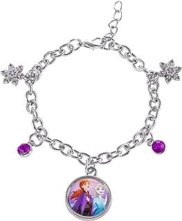 Disney Frozen 2 Sisters Elsa and Anna Fashion Charm Bracelet, 6.5 + 1