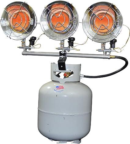 Mr. Heater F242915 MH45T Triple Tank Top Heater, 10000 to 45000 BTU/Hr,Chrome: image