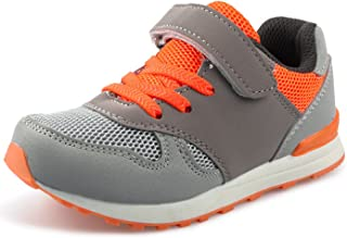 (ダダウン)DADAWEN 子供靴 スニーカー 男の子 女の子 運動靴 通気 コンフォート ジュニア スポーツシューズ 履き心地抜群 滑り止め 通学靴 グレー 18.5cm