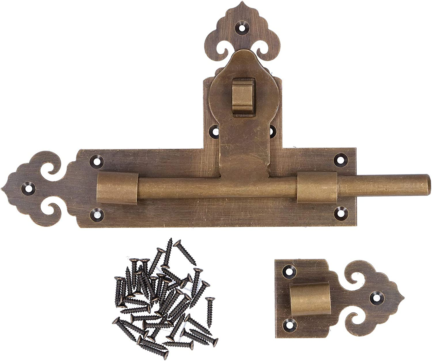 Chinese Style Brass Horizontal Price reduction Door Bolt Kit 37 Ranking TOP7 with Vil Screws