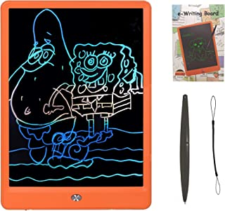 Drawing Tablet 10 Inches LCD Writing Tablet Colorful Screen, Doodle Board Electronic Doodle Pads Writing Board for Kids and Adults (Orange)